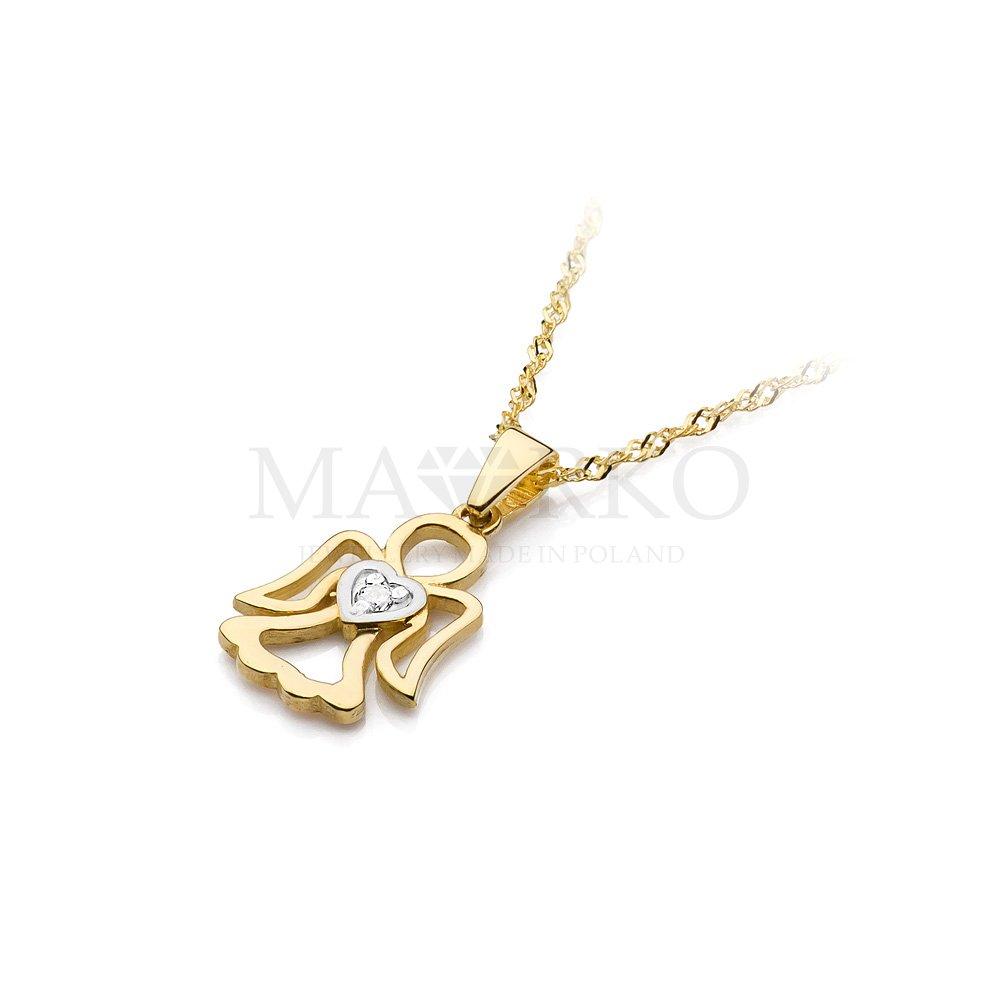 złoty aniołek - jedna z propozycji pamiątek komunijnych dla dziewczynki